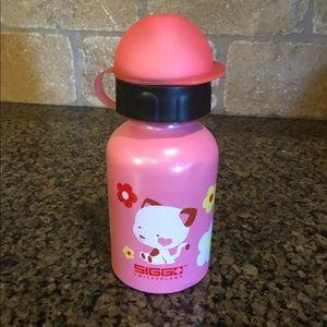Sigg Kid's Water Bottle Pink Kitty Flowers
